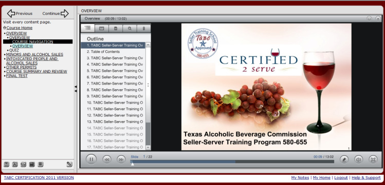 Texas Approved TABC Certification Online   Certified2Serve